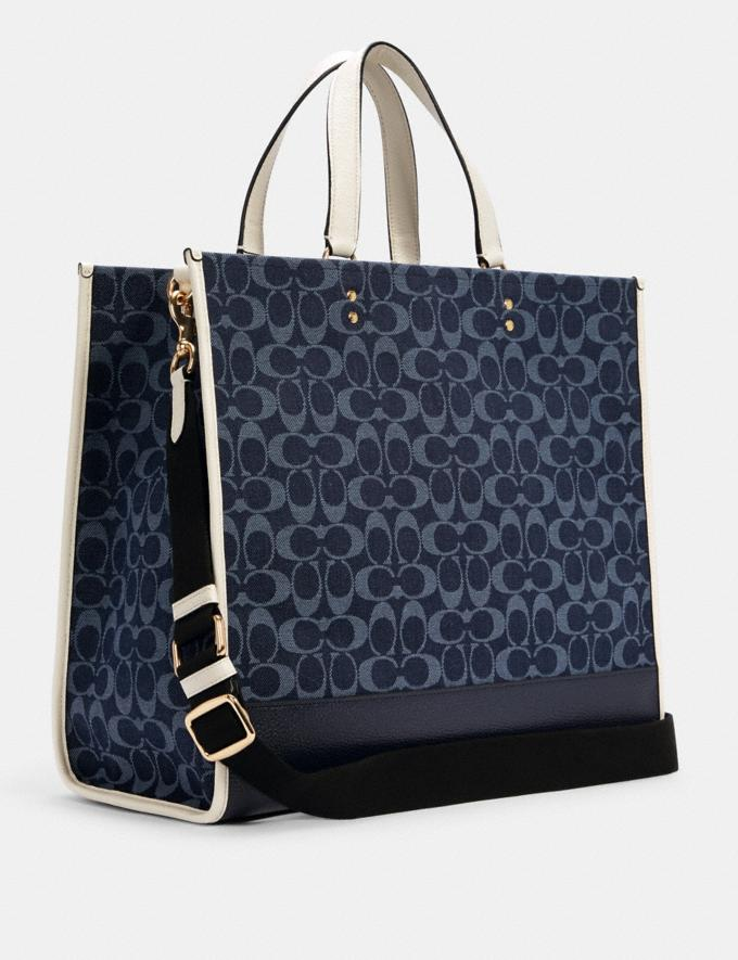 Coach Dempsey Tote 40 in Signature Jacquard With Patch Im/Denim Multi DEFAULT_CATEGORY Alternate View 1