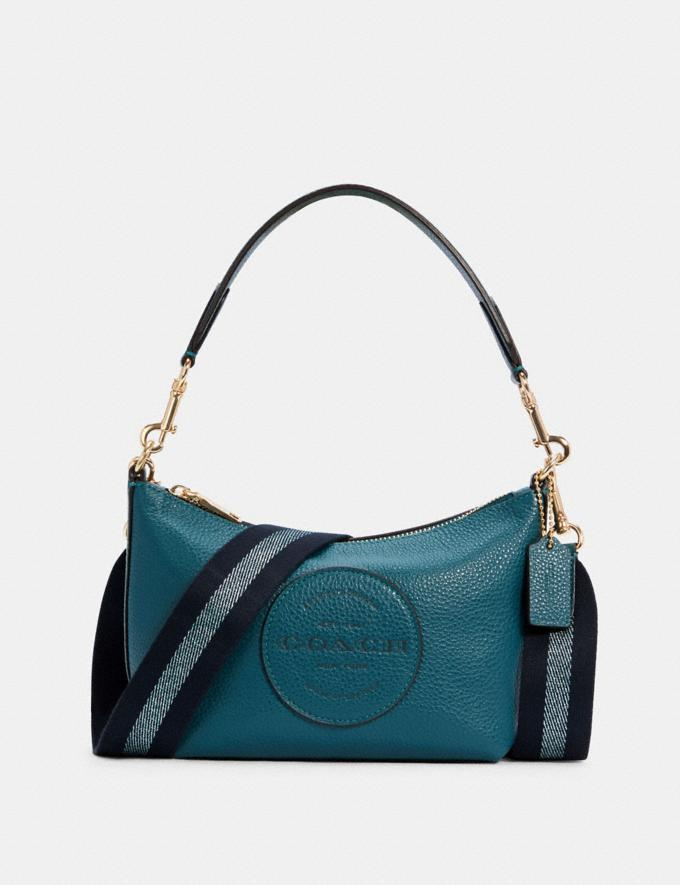 Coach Dempsey Shoulder Bag With Patch Im/Teal Ink DEFAULT_CATEGORY