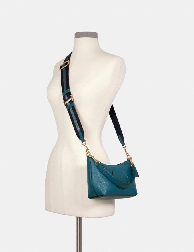 Coach Dempsey Shoulder Bag With Patch Im/Teal Ink DEFAULT_CATEGORY Alternate View 3