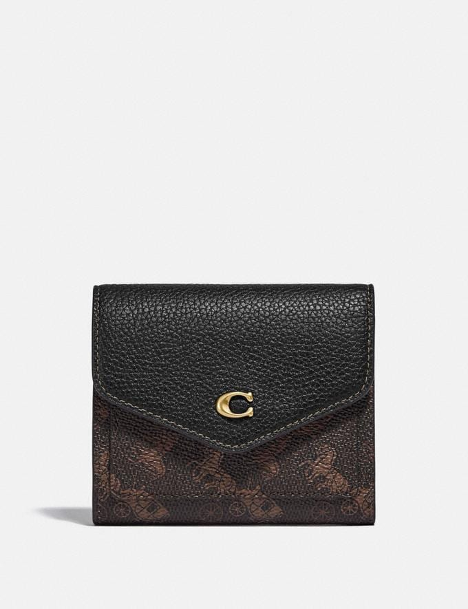 Coach Wynn Small Wallet With Horse and Carriage Print B4/Truffle Black New Women's New Arrivals Small Leather Goods