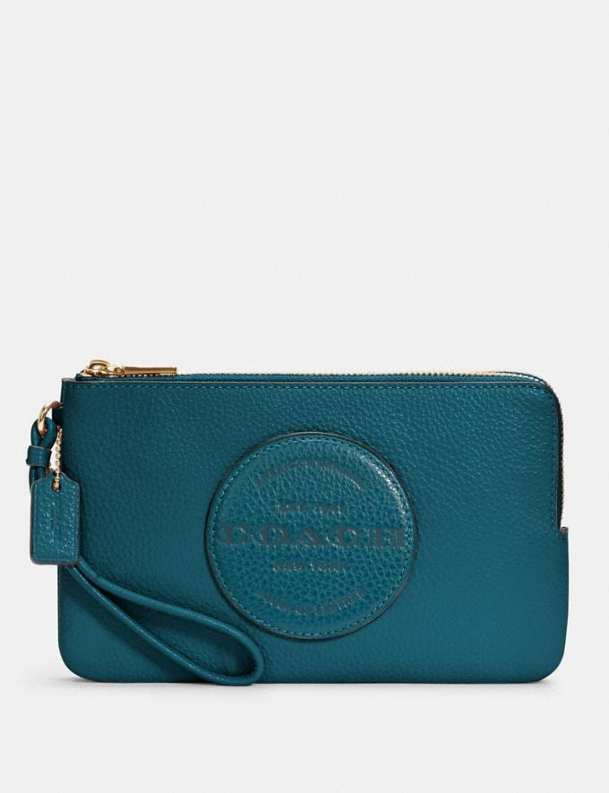 Coach Dempsey Double Zip Wallet With Patch Im/Teal Ink DEFAULT_CATEGORY