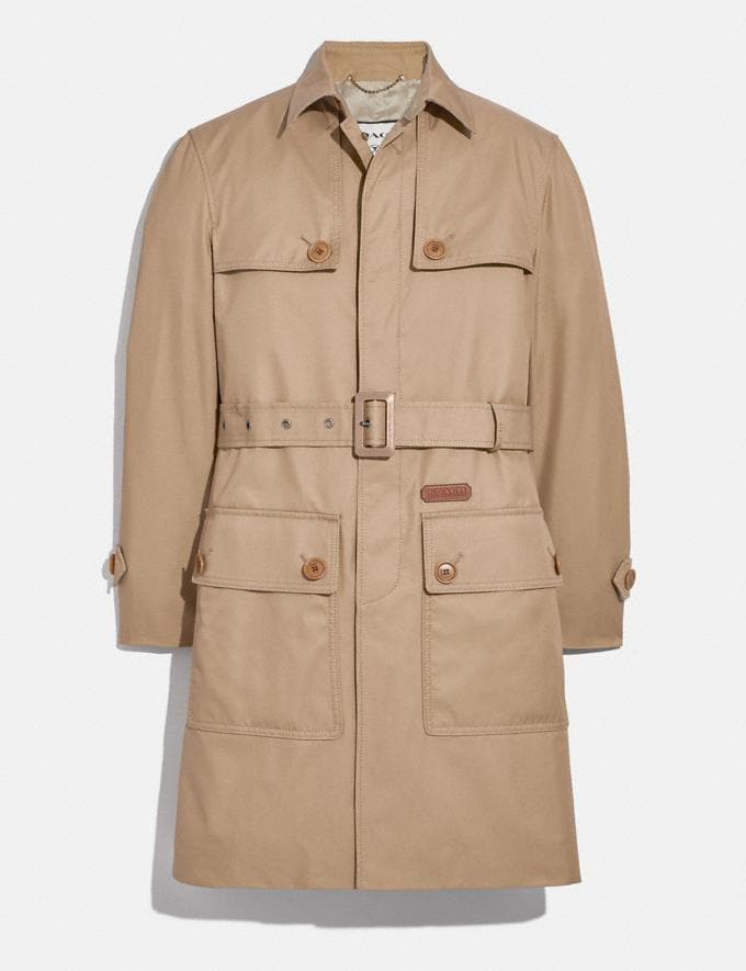 Coach Trench in Organic Cotton and Recycled Polyester Khaki