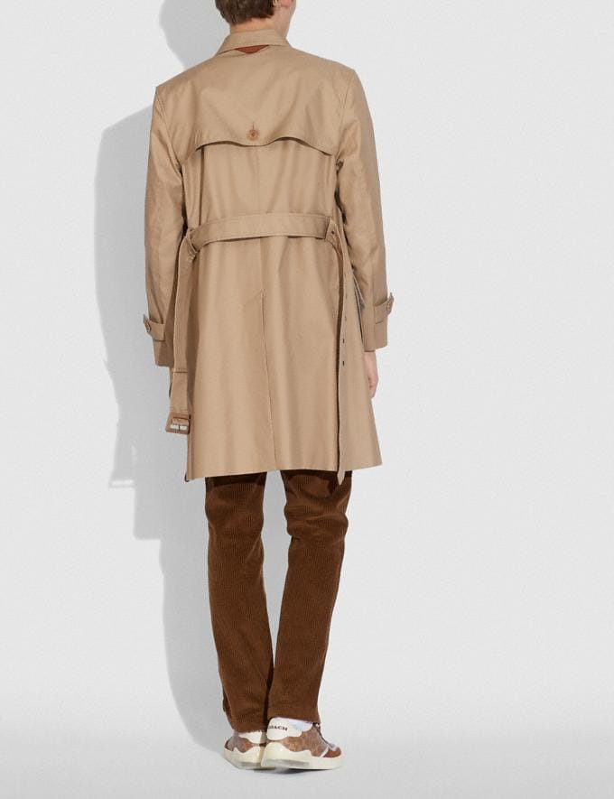 Coach Trench in Organic Cotton and Recycled Polyester Khaki  Alternate View 2