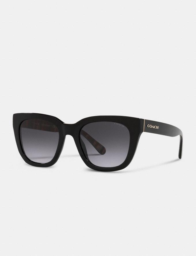 Coach Legacy Stripe Square Sunglasses Black DEFAULT_CATEGORY