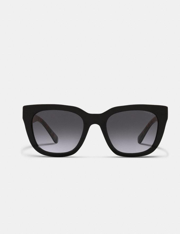 Coach Legacy Stripe Square Sunglasses Black DEFAULT_CATEGORY Alternate View 2