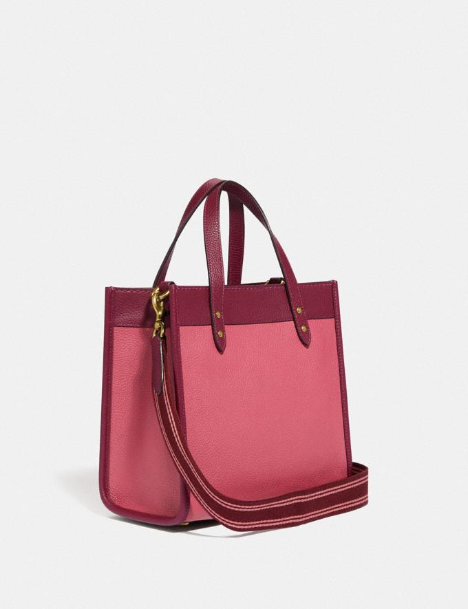 Coach Field Tote 22 in Colorblock With Coach Badge B4/Rouge Multi New Women's New Arrivals Bags Alternate View 1