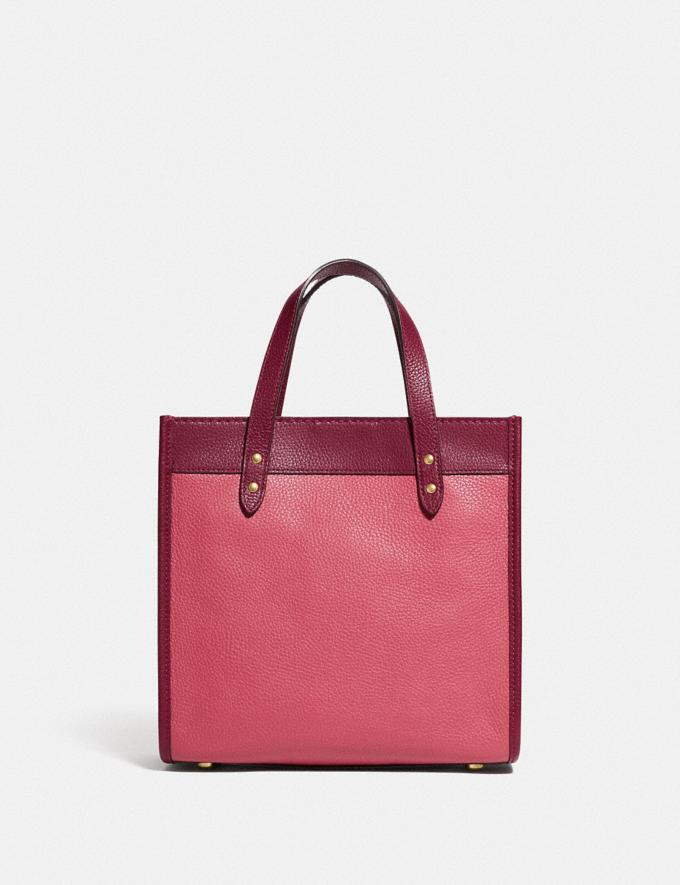 Coach Field Tote 22 in Colorblock With Coach Badge B4/Rouge Multi New Women's New Arrivals Bags Alternate View 2