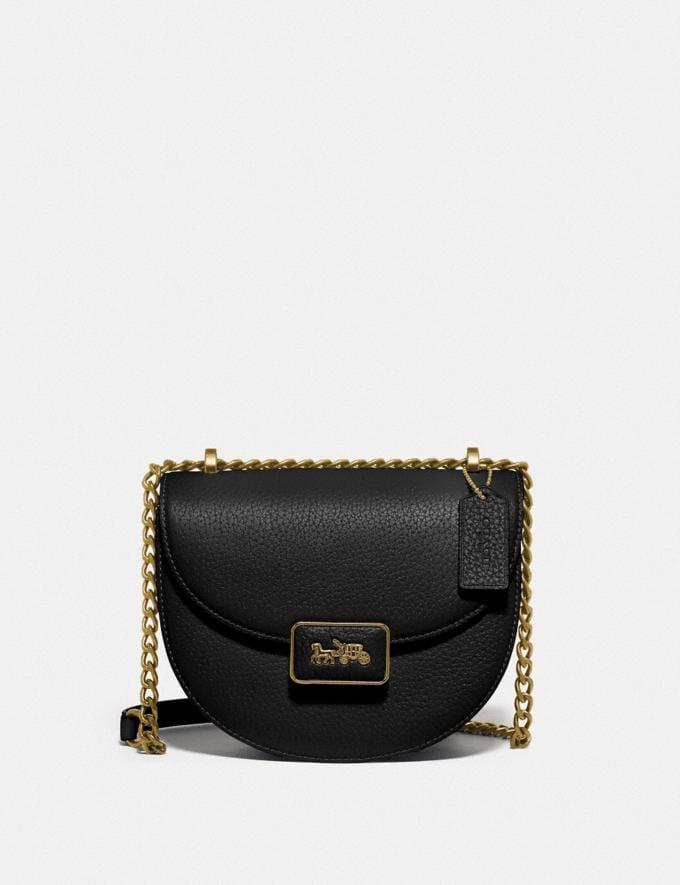 Coach Alie Saddle Bag B4/Black Translations 5.1 Retail