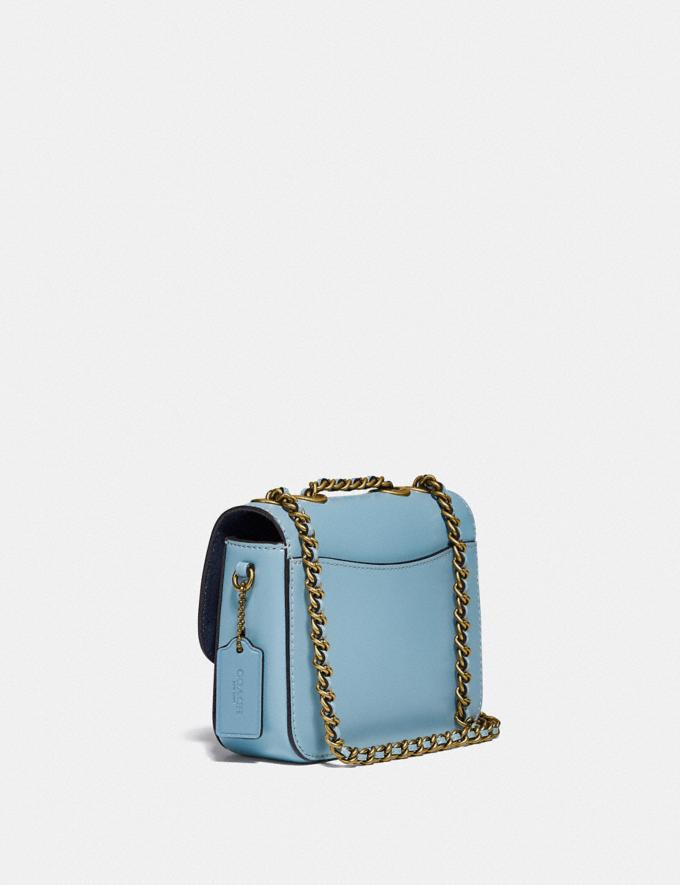 Coach Madison Shoulder Bag 16 With Floral Embroidery B4/Azure Translations 5.1 Retail Alternate View 1
