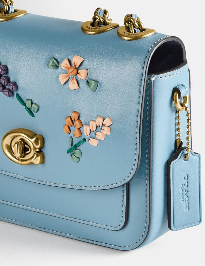 Coach Madison Shoulder Bag 16 With Floral Embroidery B4/Azure Translations 5.1 Retail Alternate View 5
