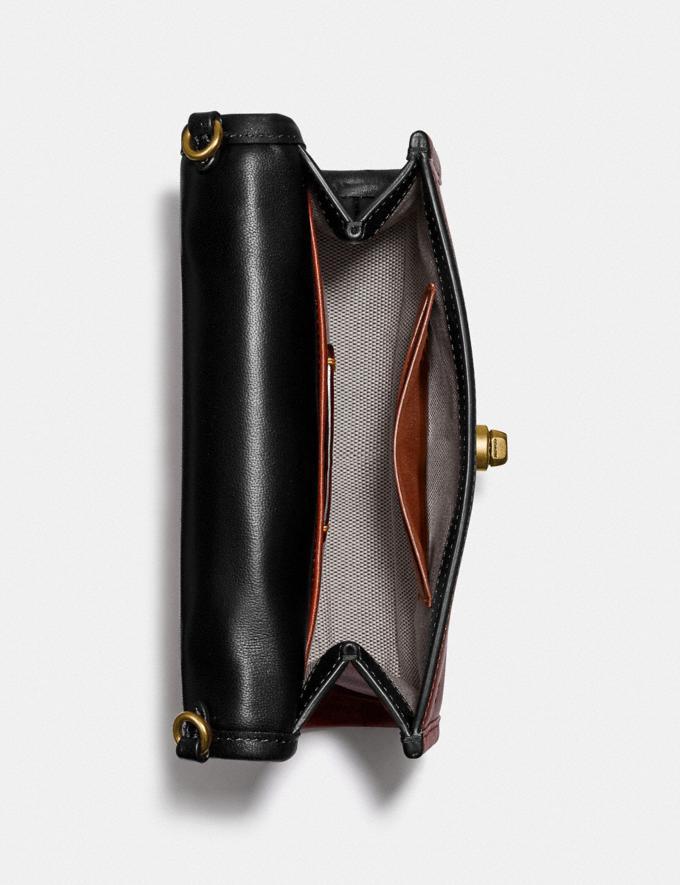 Coach Kip Turnlock Crossbody Brass/Black New Women's New Arrivals Small Leather Goods Alternate View 3