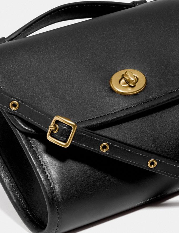 Coach Kip Turnlock Crossbody Brass/Black New Women's New Arrivals Small Leather Goods Alternate View 5
