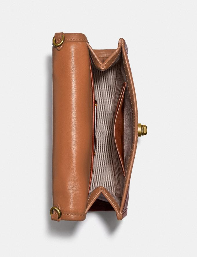 Coach Kip Turnlock Crossbody Brass/Natural New Women's New Arrivals Small Leather Goods Alternate View 2