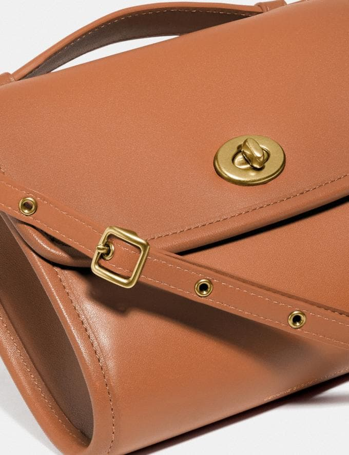 Coach Kip Turnlock Crossbody Brass/Natural New Women's New Arrivals Small Leather Goods Alternate View 3