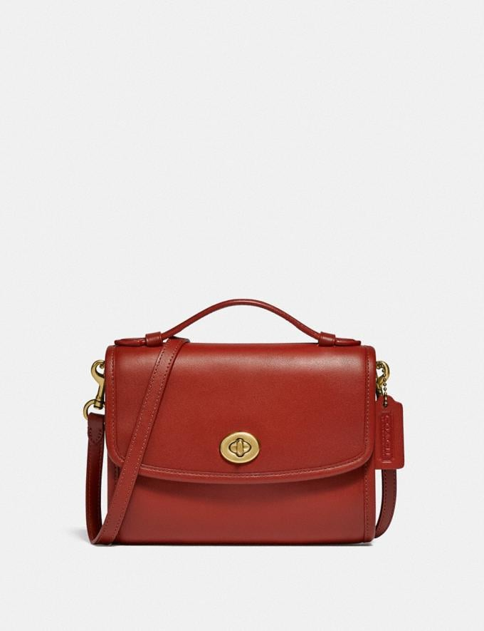 Coach Kip Turnlock Crossbody B4/Red Sand New Women's New Arrivals Small Leather Goods
