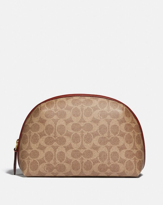 JULIENNE COSMETIC CASE 22 IN SIGNATURE CANVAS