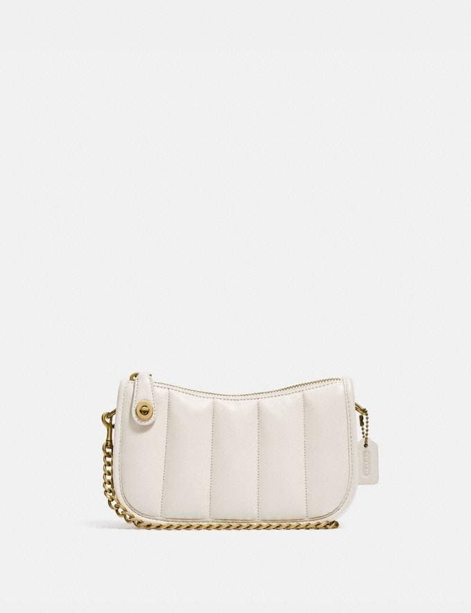 Coach Swinger 20 With Quilting Brass/Chalk null