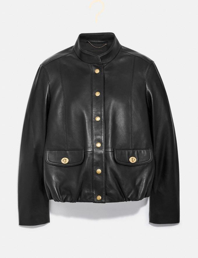 Coach Lightweight Leather Jacket Black 2