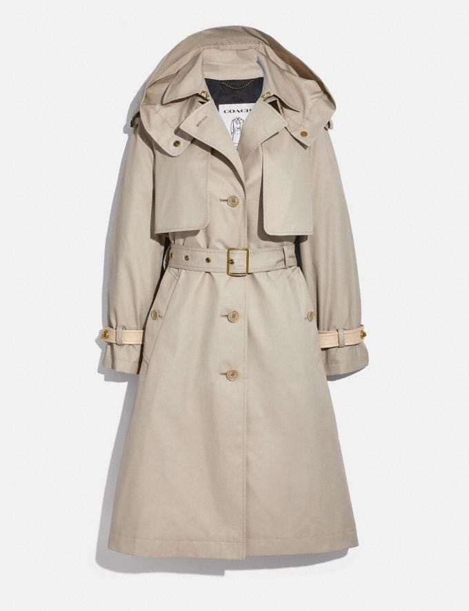 Coach Hooded Trench Pumice DEFAULT_CATEGORY