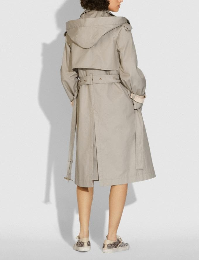 Coach Hooded Trench Pumice DEFAULT_CATEGORY Alternate View 2
