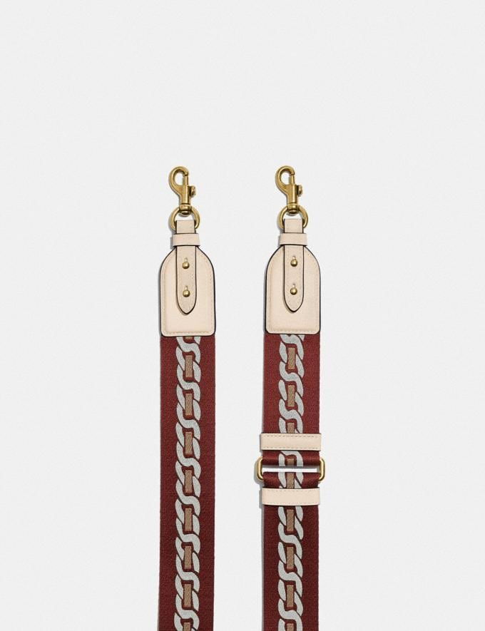 Coach Strap With Chain Stripe Brass/Ivory DEFAULT_CATEGORY Alternate View 1