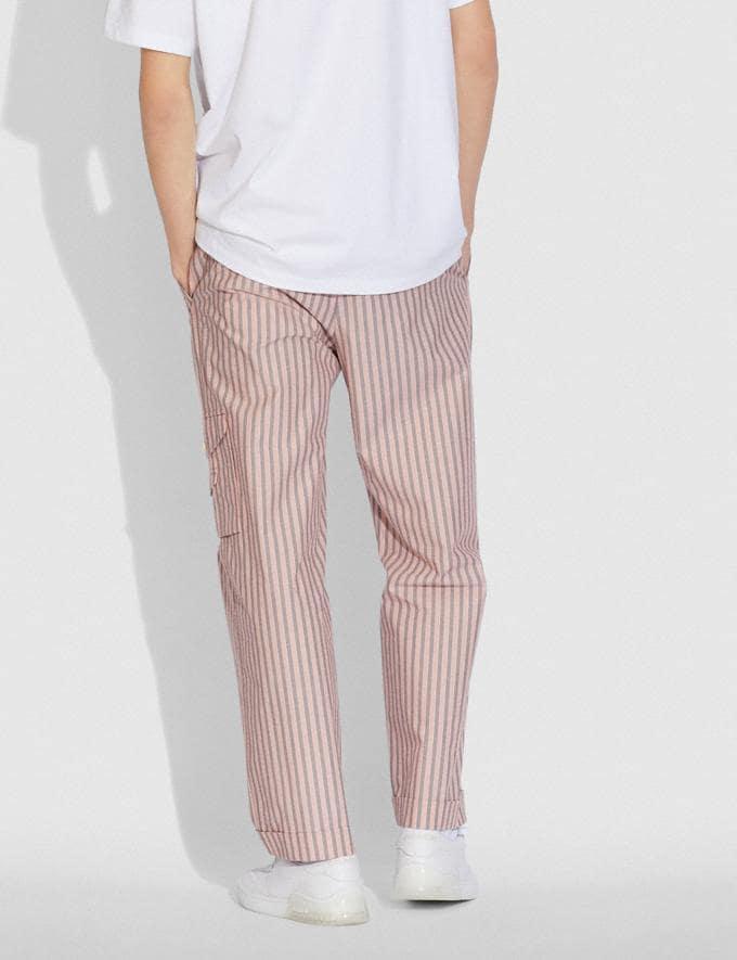 Coach Pantalones Estilo Pijama Franjas Rosa/Grises  Vistas alternativas 2