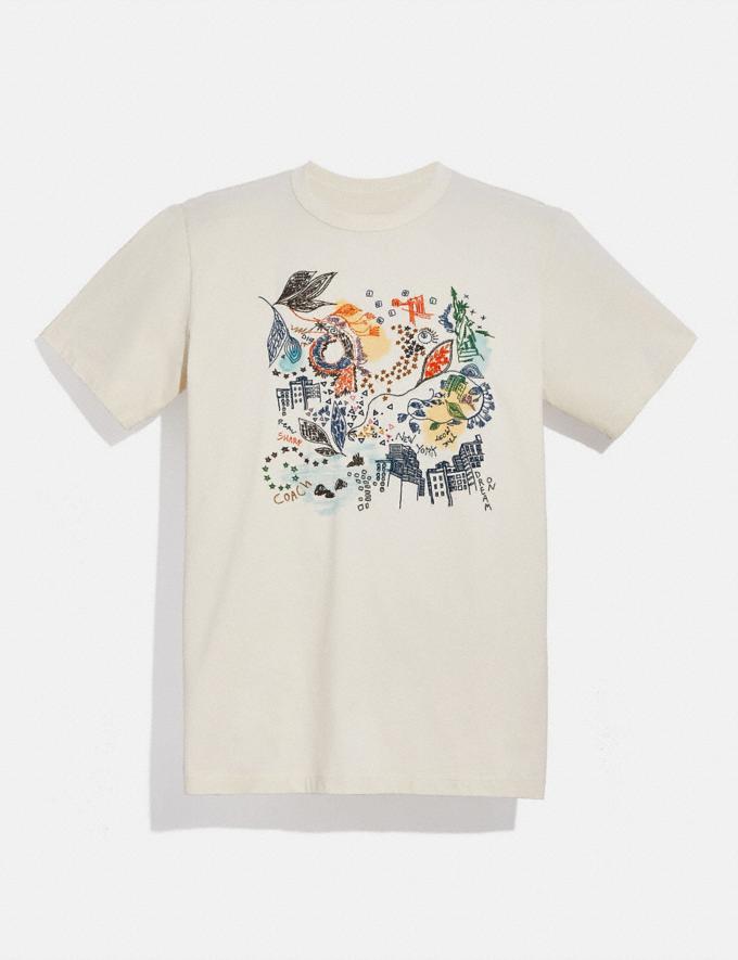 Coach Doodle Dream T-Shirt in Organic Cotton Antique White