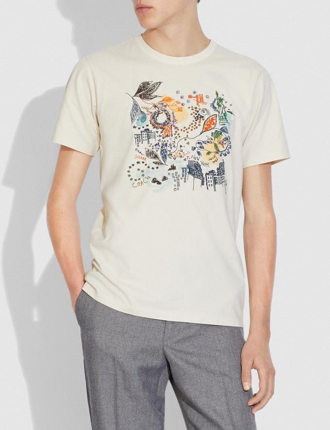 Coach Doodle Dream T-Shirt in Organic Cotton Antique White  Alternate View 1