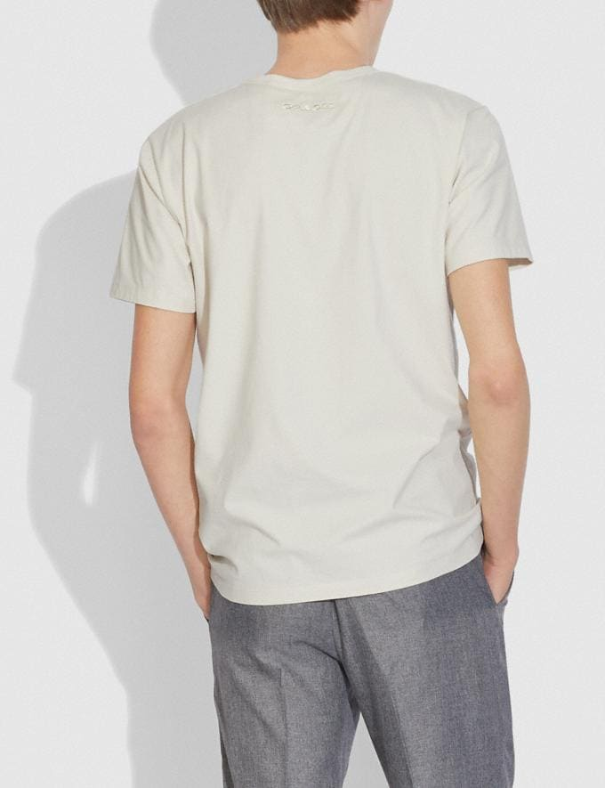 Coach Doodle Dream T-Shirt in Organic Cotton Antique White  Alternate View 2
