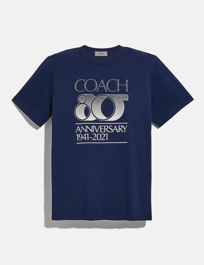 Coach Coach 80th Anniversary T-Shirt Space Navy