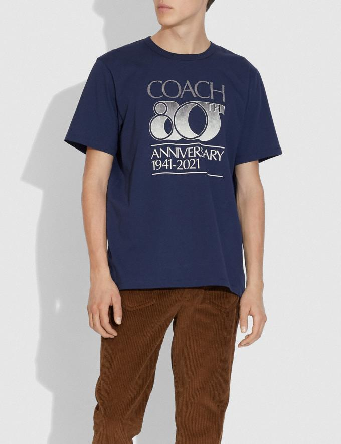 Coach Coach 80th Anniversary T-Shirt Space Navy  Alternate View 1