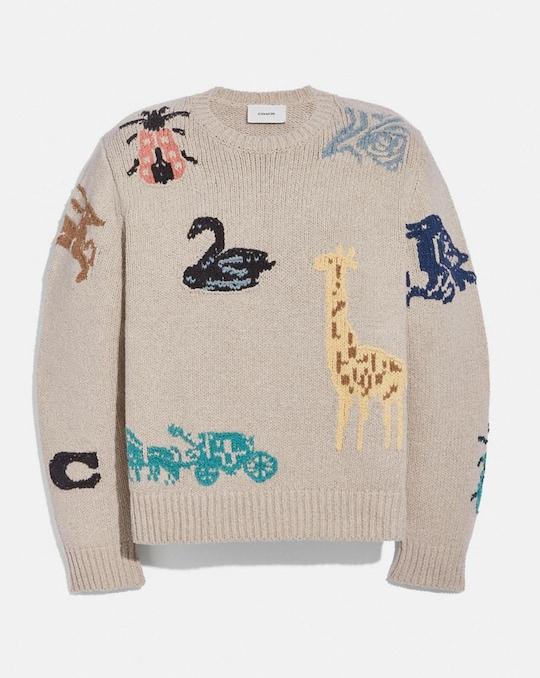 PULL INTARSIA ANIMAL GROUP
