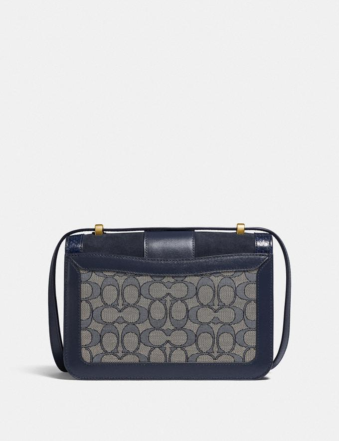 Coach Alie Shoulder Bag in Signature Jacquard With Snakeskin Detail B4/Navy Midnight Navy New Women's New Arrivals Bags Alternate View 2