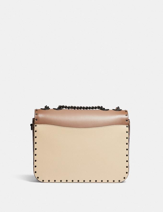 Coach Madison Shoulder Bag in Signature Canvas With Rivets and Snakeskin Detail V5/Tan Taupe Multi New Women's New Arrivals Bags Alternate View 2