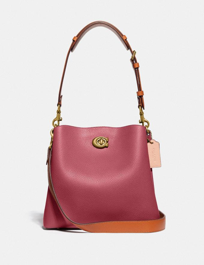 Coach Willow Bucket Bag in Colorblock B4/Rouge Multi New Women's New Arrivals Bags