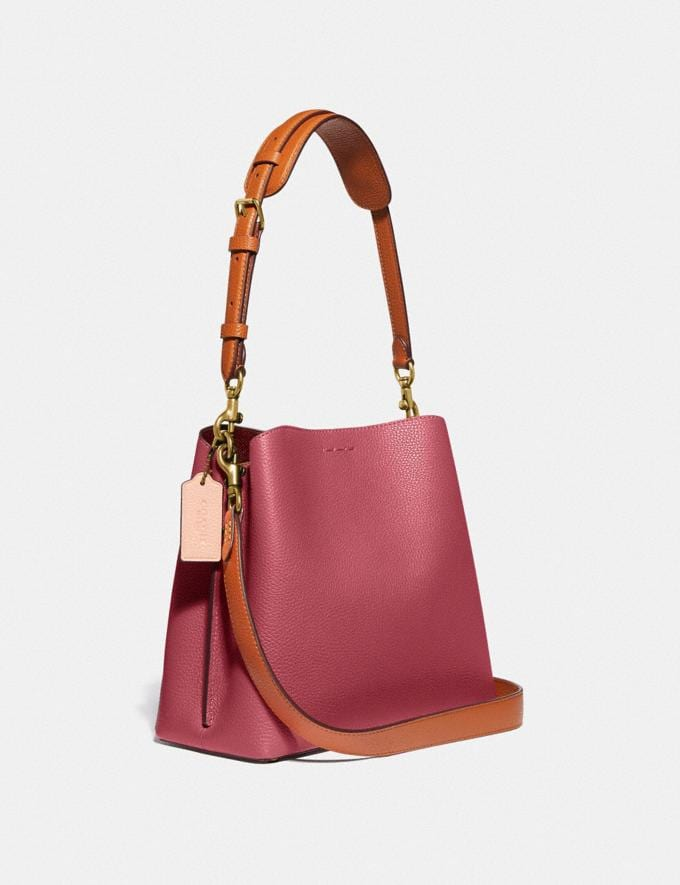 Coach Willow Bucket Bag in Colorblock B4/Rouge Multi New Women's New Arrivals Bags Alternate View 1