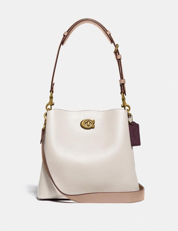 Coach Willow Bucket Bag in Colorblock Brass/Chalk Multi null
