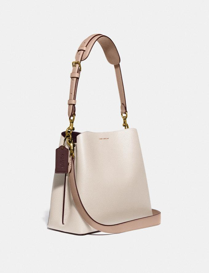 Coach Willow Bucket Bag in Colorblock Brass/Chalk Multi null Alternate View 1