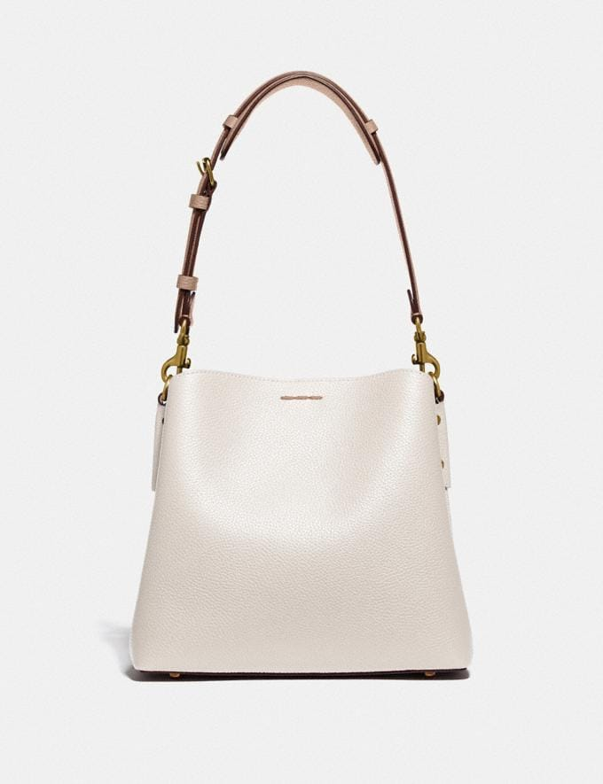Coach Willow Bucket Bag in Colorblock Brass/Chalk Multi null Alternate View 2