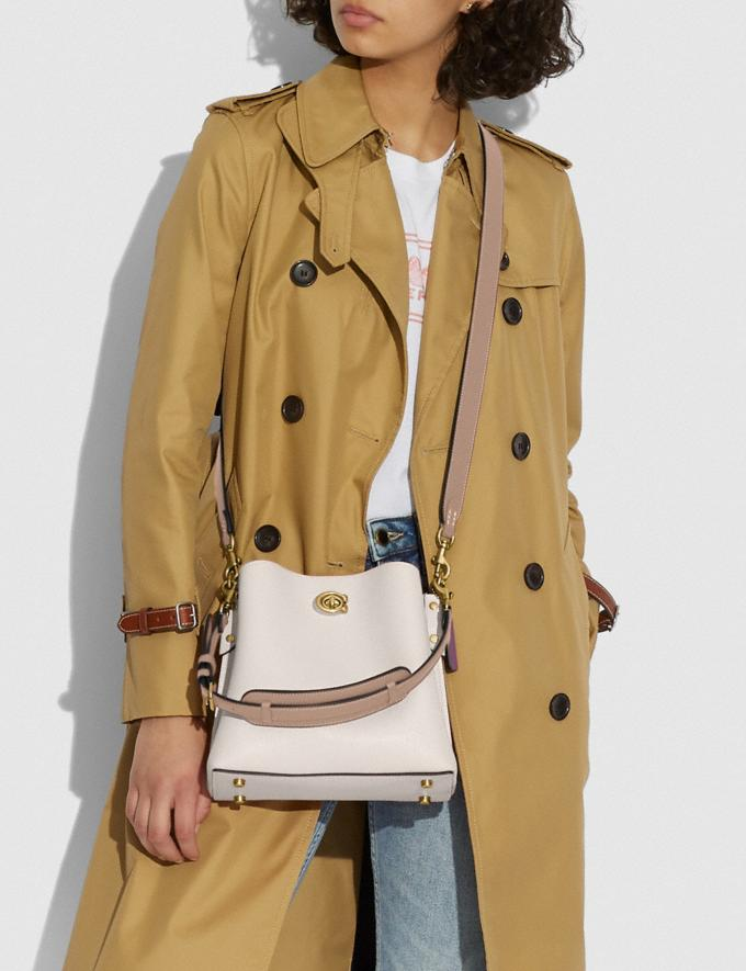 Coach Willow Bucket Bag in Colorblock Brass/Amazon Green Multi Translations 5.1 Retail Alternate View 4
