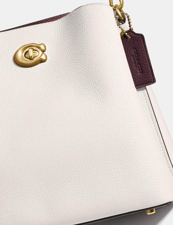 Coach Willow Bucket Bag in Colorblock Brass/Chalk Multi null Alternate View 3