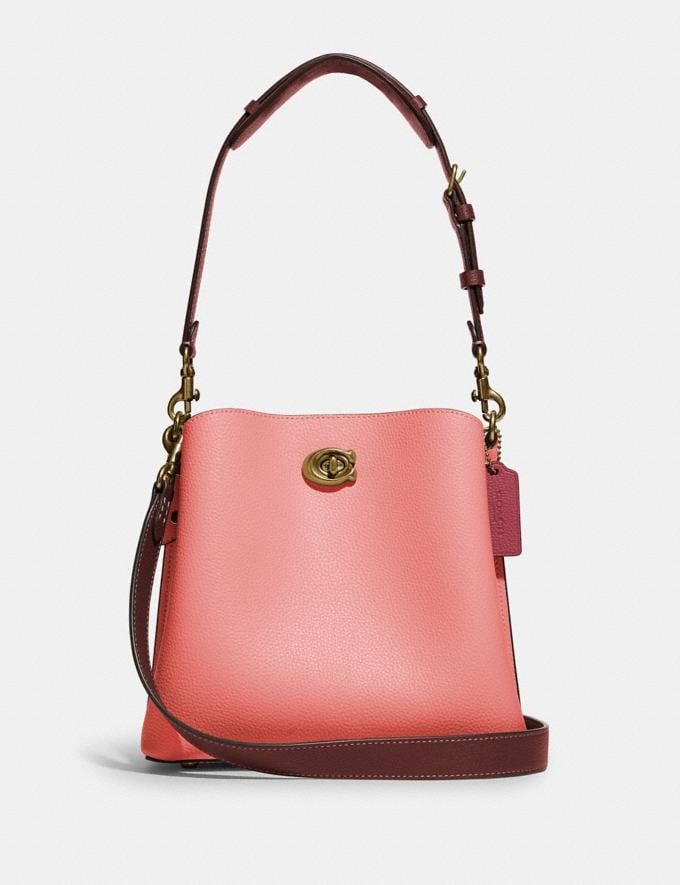 Coach Willow Bucket Bag in Colorblock B4/Candy Pink Multi DEFAULT_CATEGORY