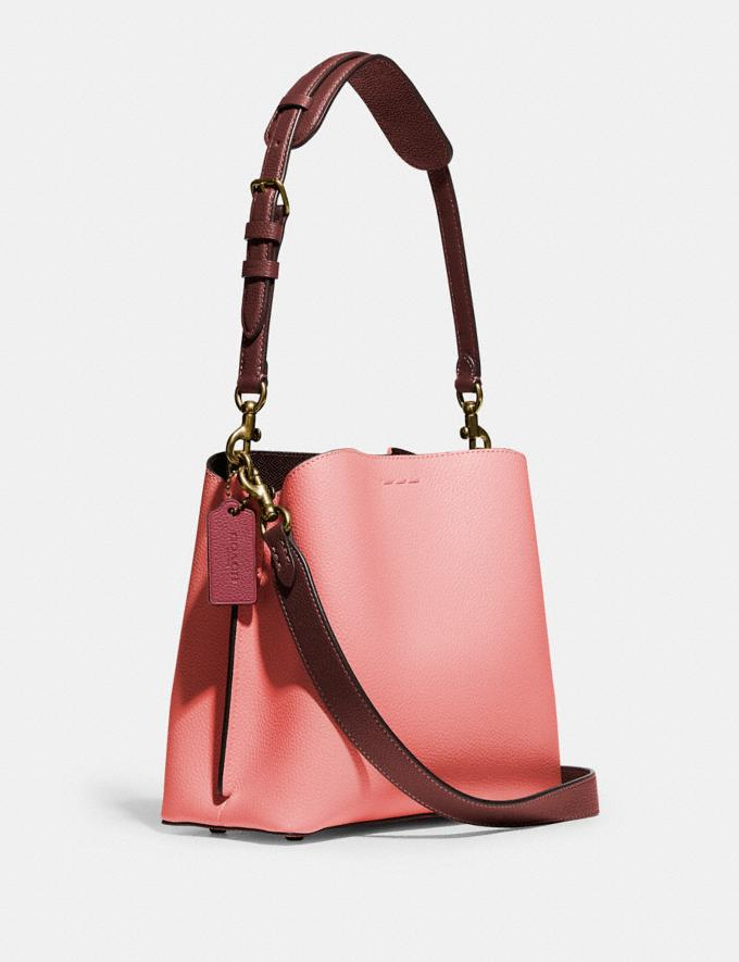 Coach Willow Bucket Bag in Colorblock B4/Candy Pink Multi DEFAULT_CATEGORY Alternate View 1