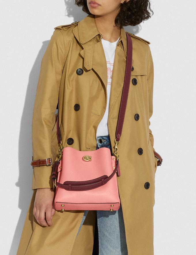 Coach Willow Bucket Bag in Colorblock B4/Candy Pink Multi DEFAULT_CATEGORY Alternate View 4
