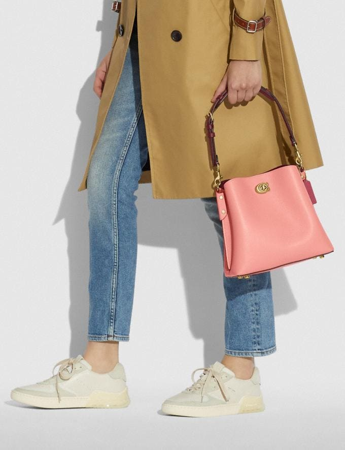 Coach Willow Bucket Bag in Colorblock B4/Candy Pink Multi DEFAULT_CATEGORY Alternate View 5