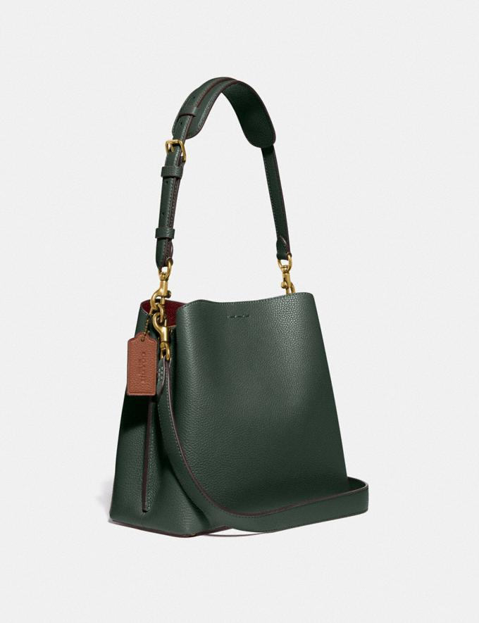 Coach Willow Bucket Bag in Colorblock Brass/Amazon Green Multi null Alternate View 1