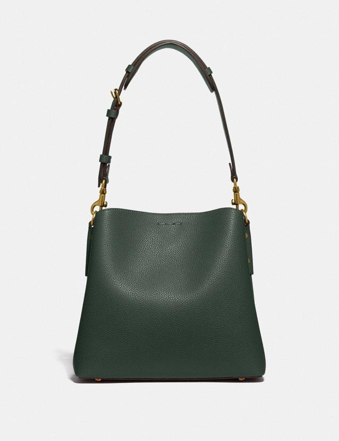 Coach Willow Bucket Bag in Colorblock Brass/Amazon Green Multi null Alternate View 2