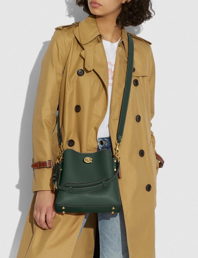 Coach Willow Bucket Bag in Colorblock Brass/Amazon Green Multi null Alternate View 4