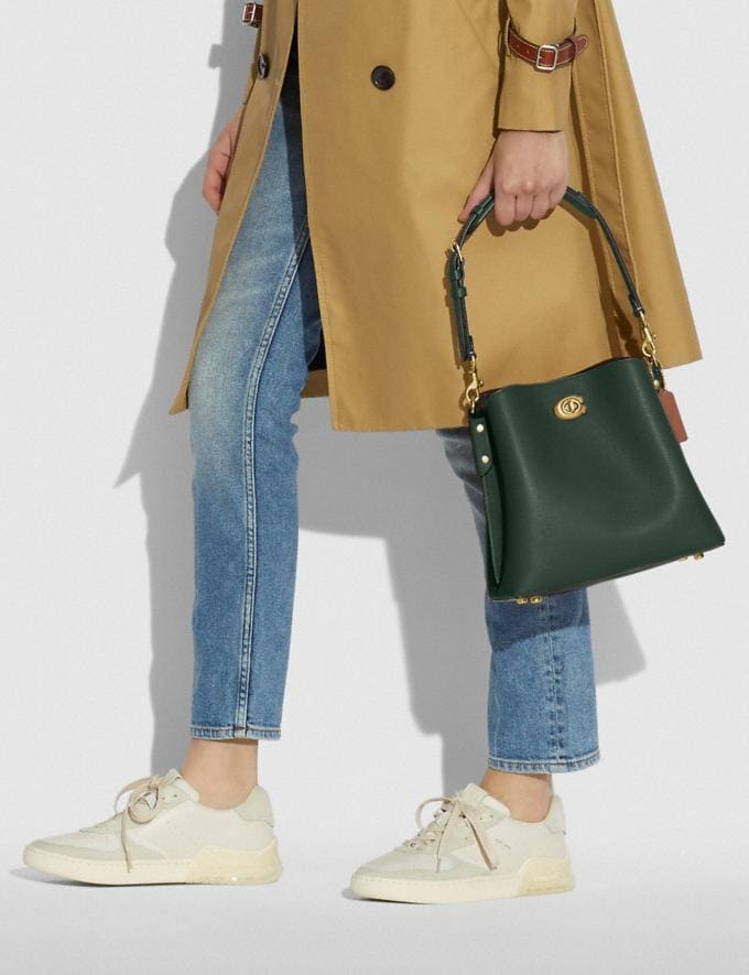 Coach Willow Bucket Bag in Colorblock Brass/Amazon Green Multi null Alternate View 5