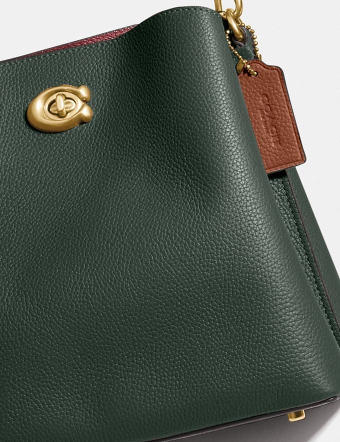 Coach Willow Bucket Bag in Colorblock Brass/Amazon Green Multi null Alternate View 6